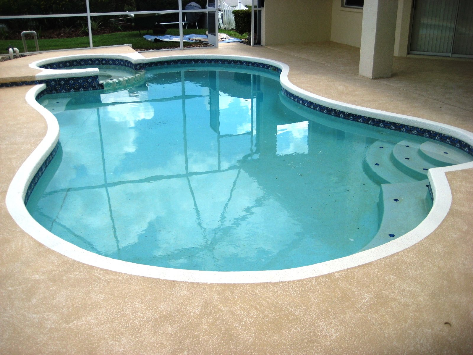 Pool Cool Deck Painting Lutz Land O Lakes Wesley Chapel New Tampa Fl in dimensions 1600 X 1200