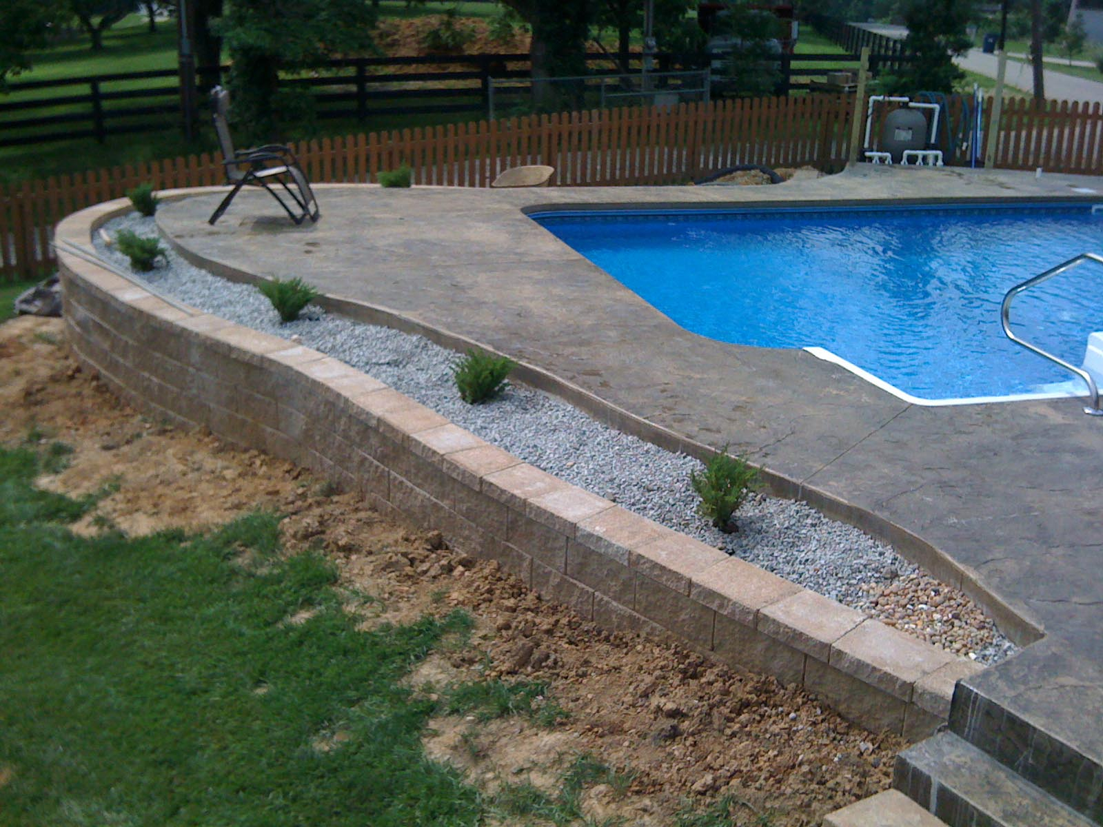Pool Deck Ideas For Inground Pools With Backyard Design Regard To Sizing 1600 X 1200