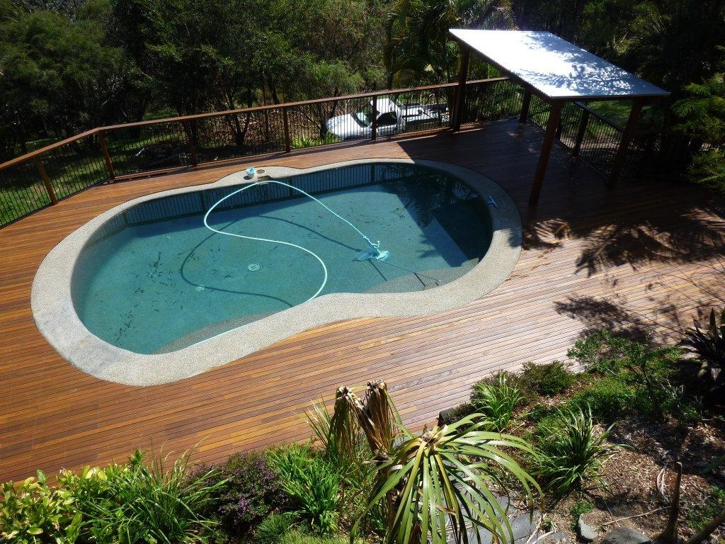Pool Decking Brisbane Timber Deck Builders Deking Intended For Sizing 1024 X 768