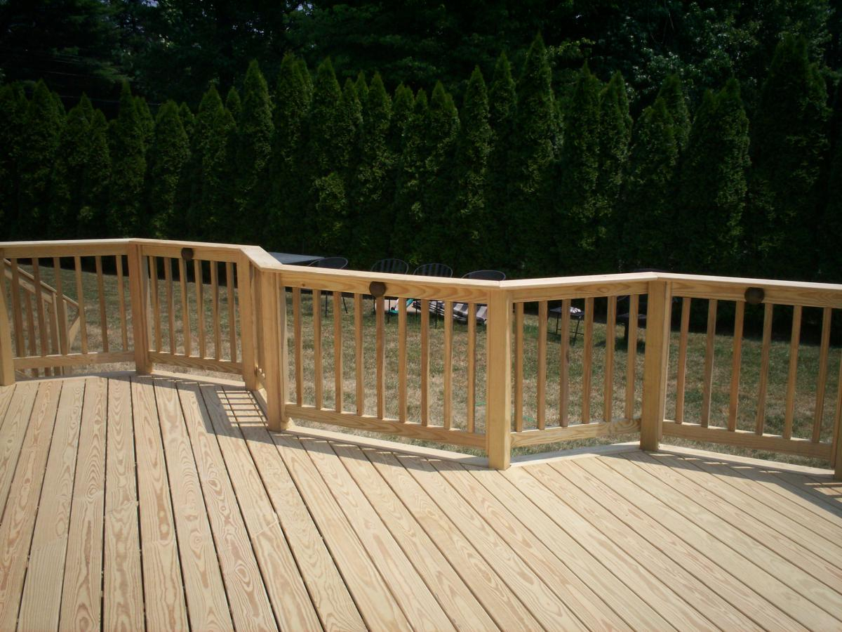 Do It Yourself Home Design: Pressure Treated Wood Deck Spindles • Decks Ideas