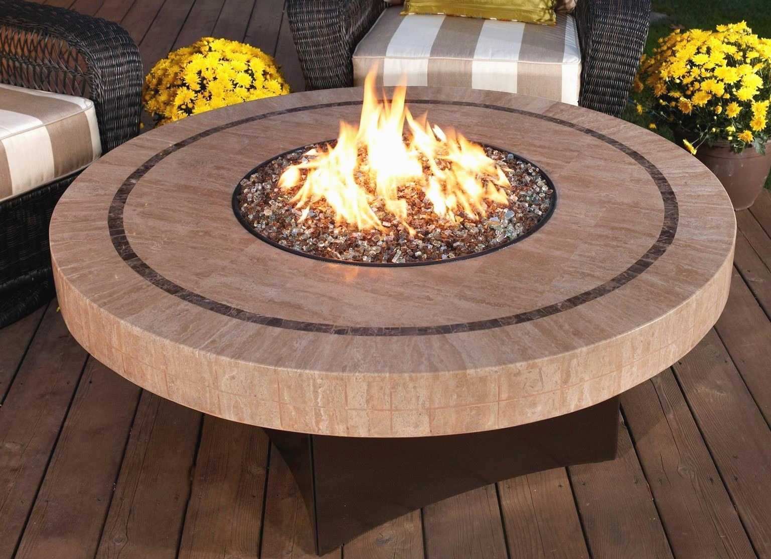 Natural Gas Fire Pit For Deck Decks Ideas - Outdoor gas fire pit table top