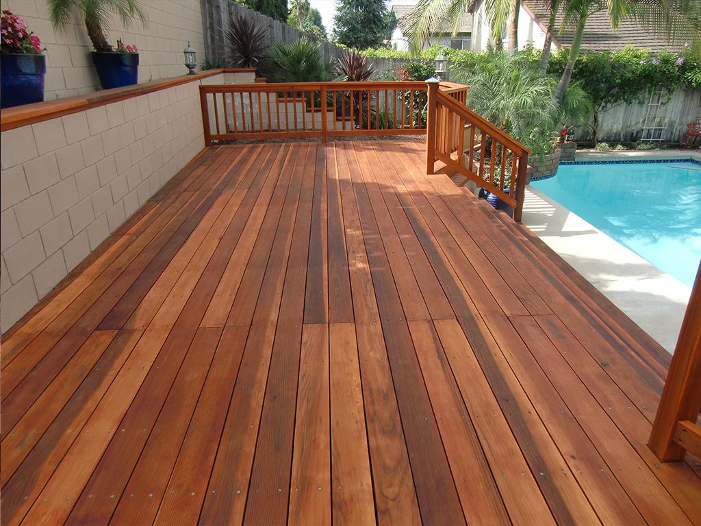 Redwood Deck Restoration Regarding Proportions 1024 X 768