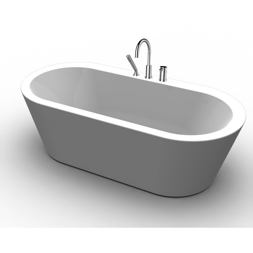 Freestanding Tub With Deck Mount Faucet • Decks Ideas