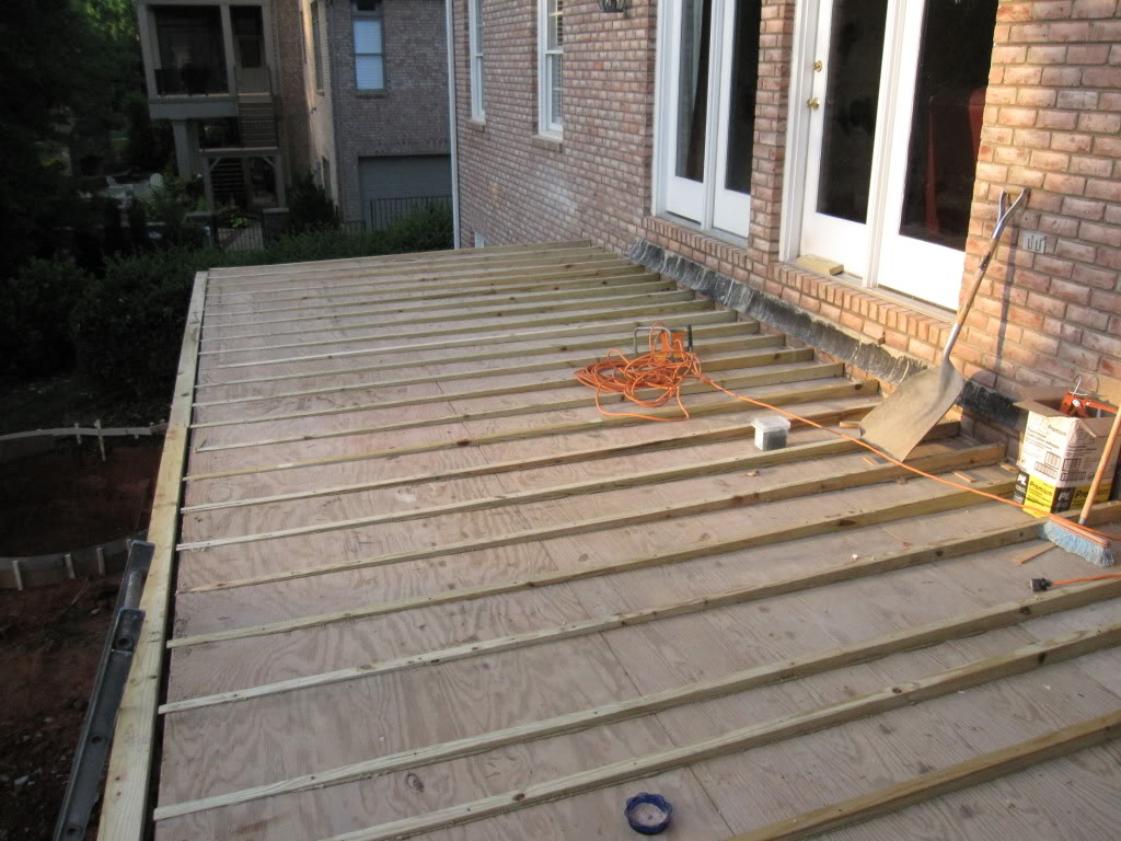 Perfect Repair Or Resurface Deck Above Living Space Intended For Size 1024 X 768