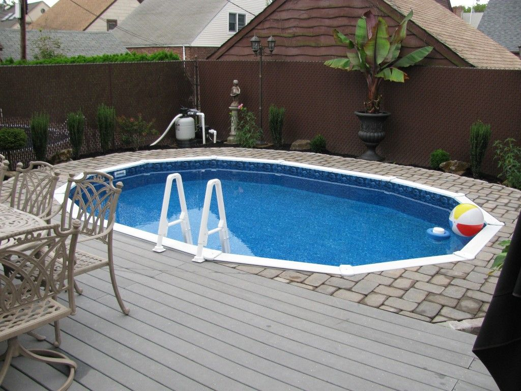 Semi Inground Pools With Decks Concrete Floor Panels For Size 1024 X 768