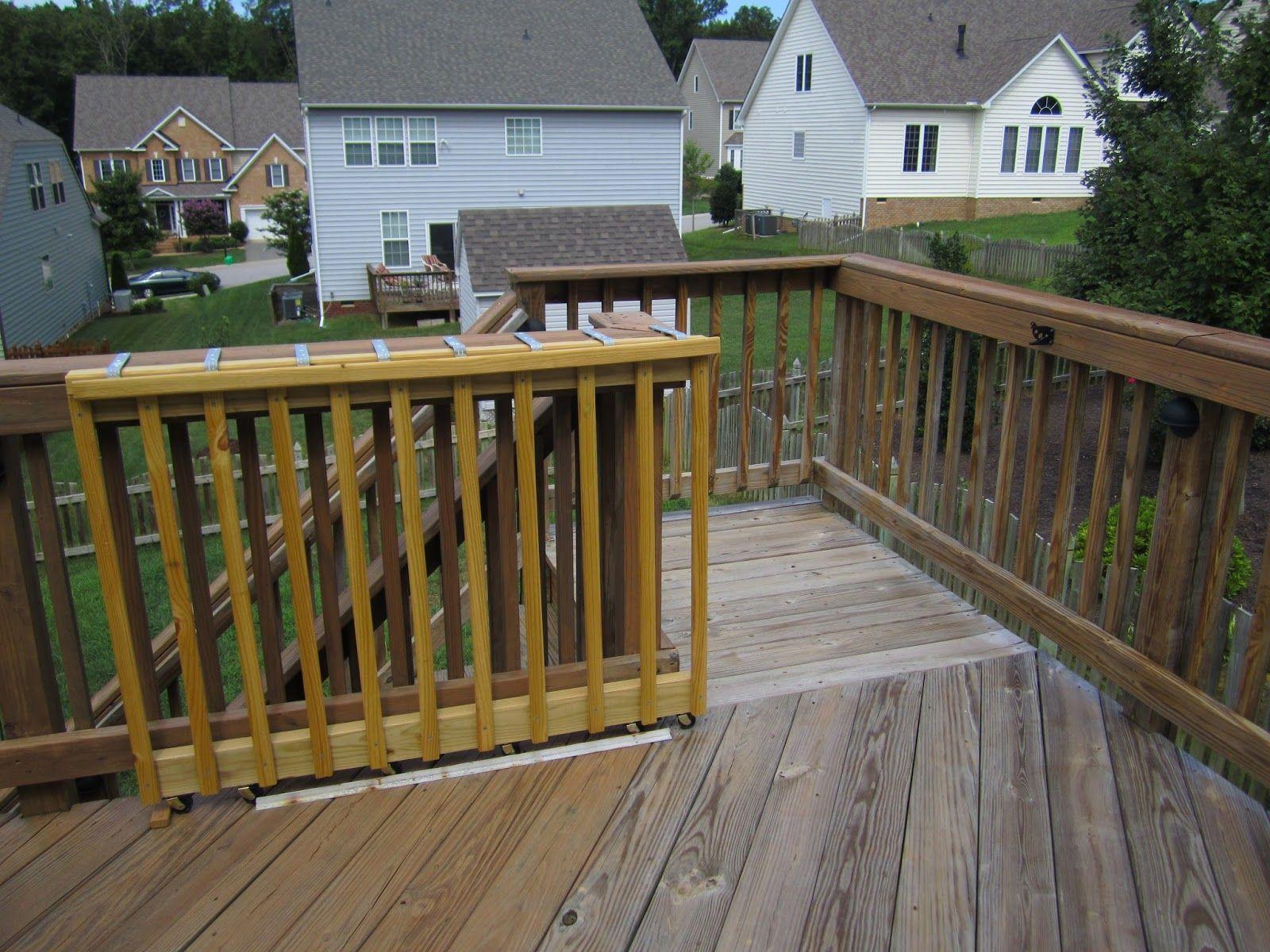 sliding gate for deck stairs decks ideas