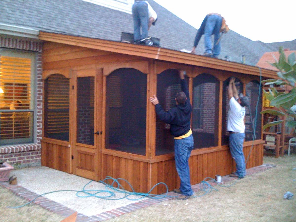Small Screen Room With Door On The Side Hundt Patio Covers And Decks Within  Dimensions 1200