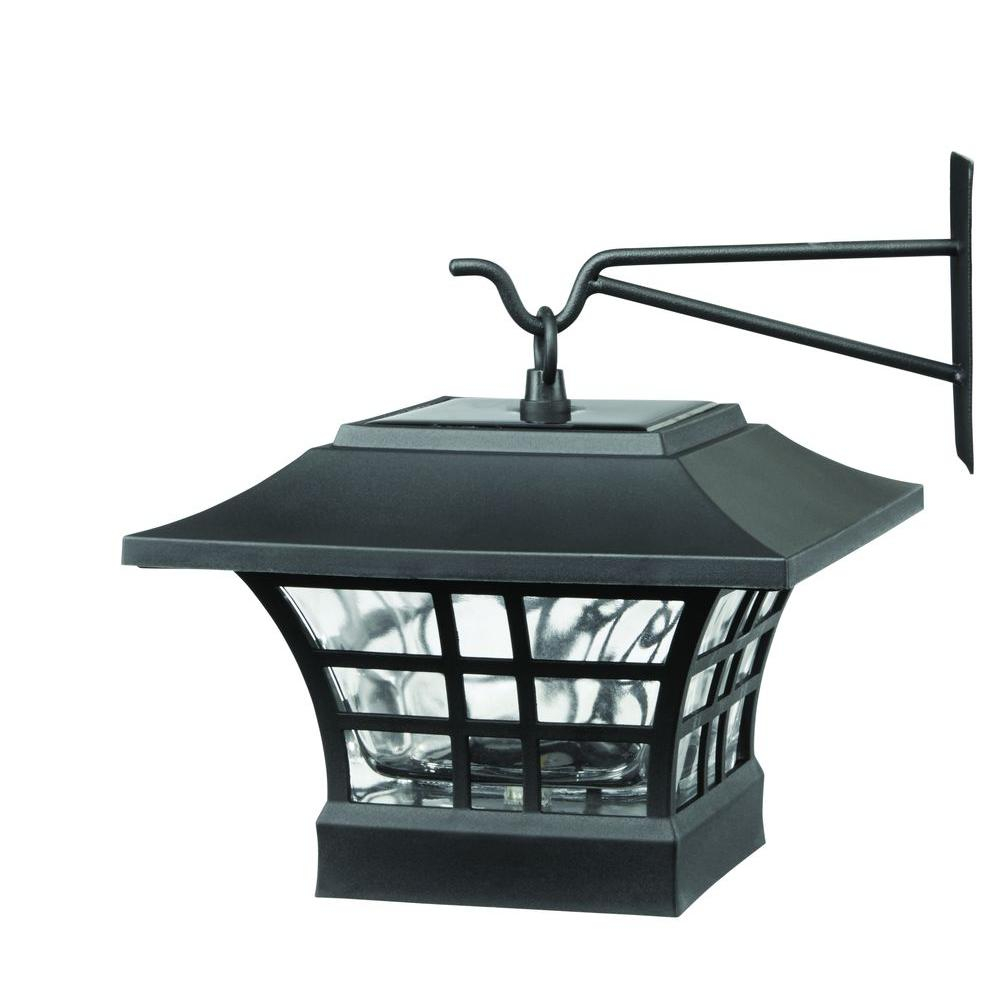Solar Black Led Deck Post With Plastic Cage And Glass Lens 2 Pack regarding proportions 1000 X 1000