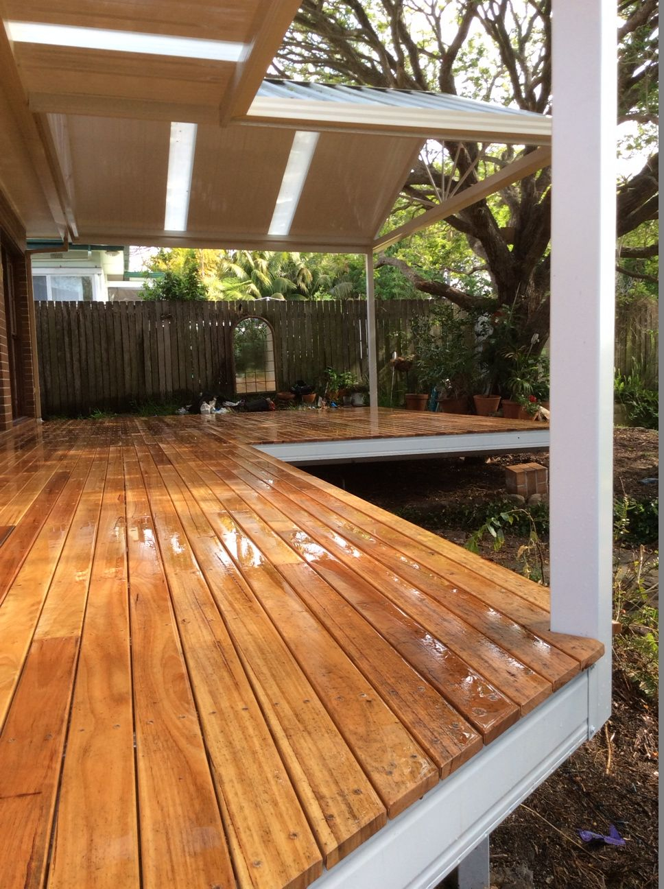 Spantec Boxspan Steel Frame Deck With Timber Decking Boards Over intended for size 968 X 1296