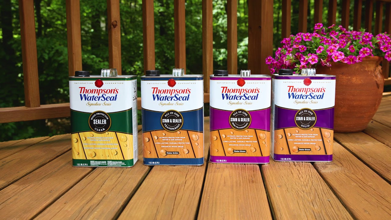 Stain Your Deck In Two Simple Steps Thompsons Waterseal Signature inside measurements 1280 X 720