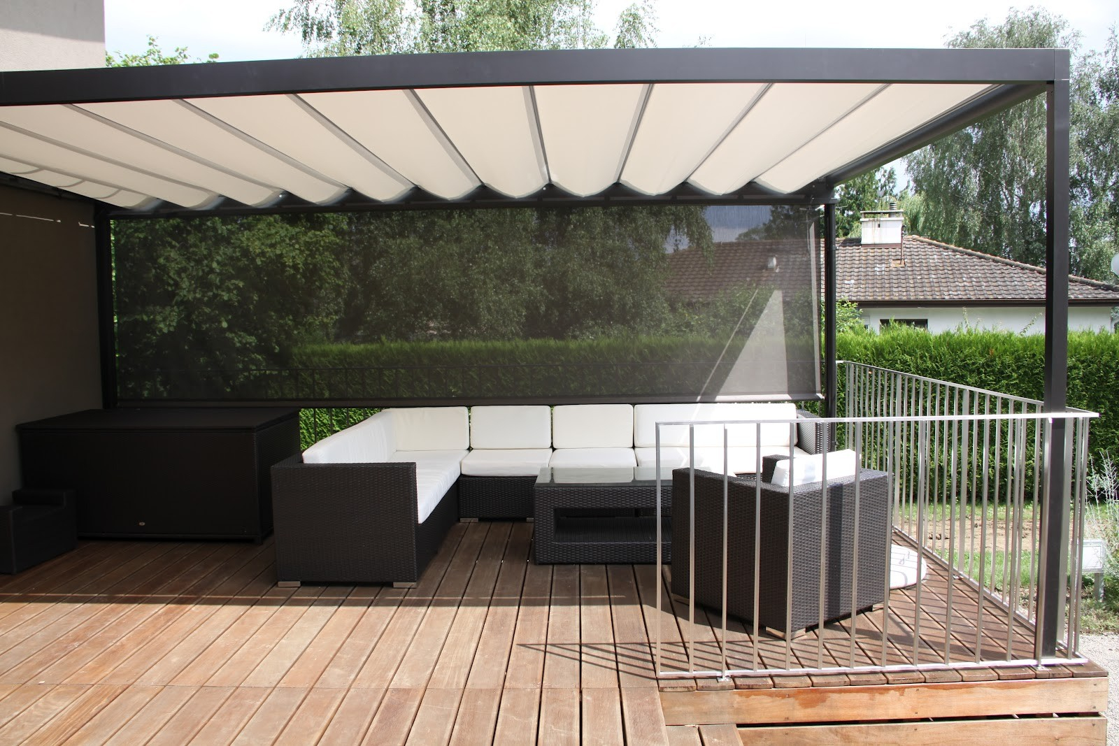Sun Shade For The Large Deck Living In Switzerland Of Sun Shades For for proportions 1600 X 1067