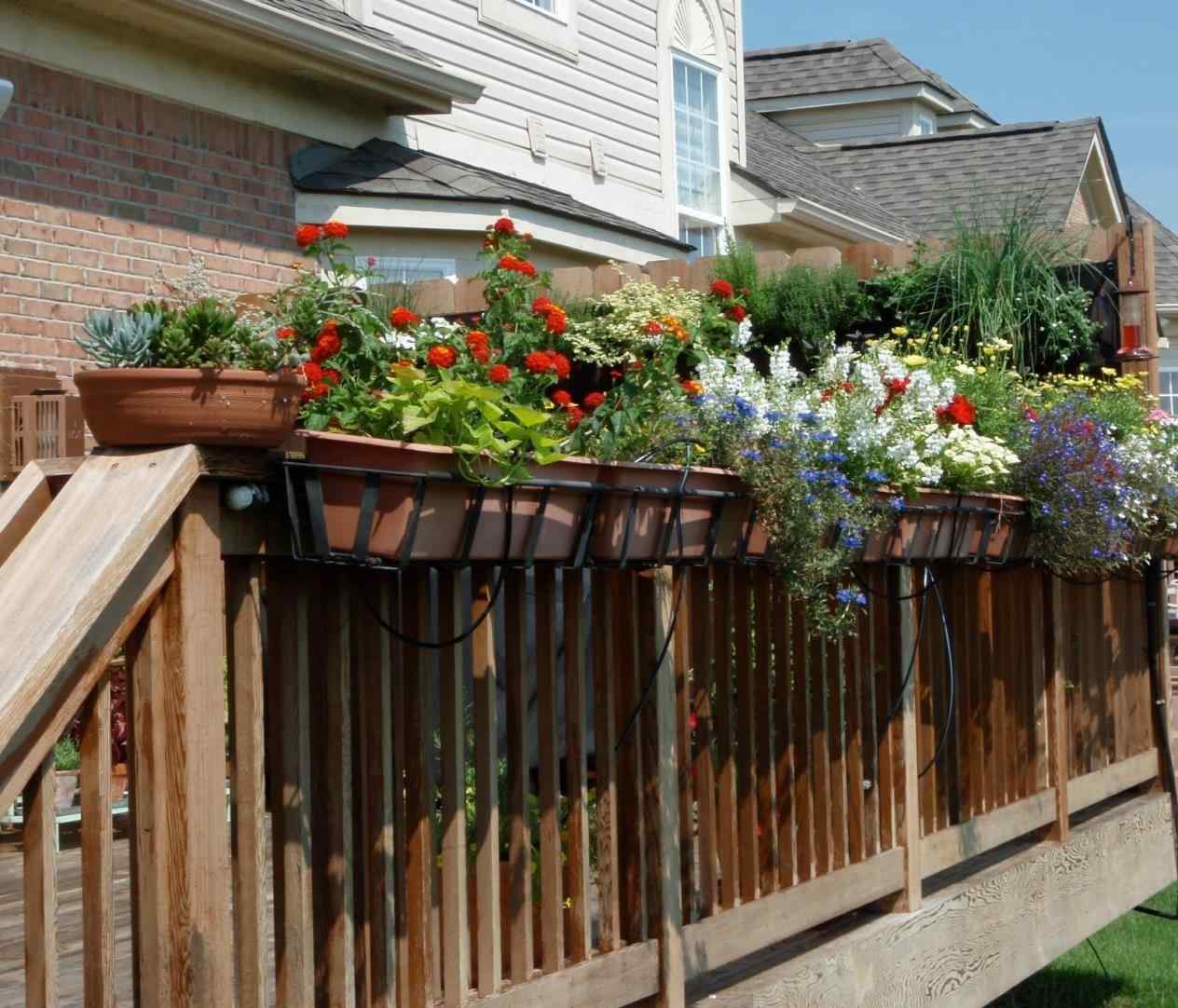 Modern Railing Planters Custom By Rushton: Planters For Deck Rails €� Decks Ideas