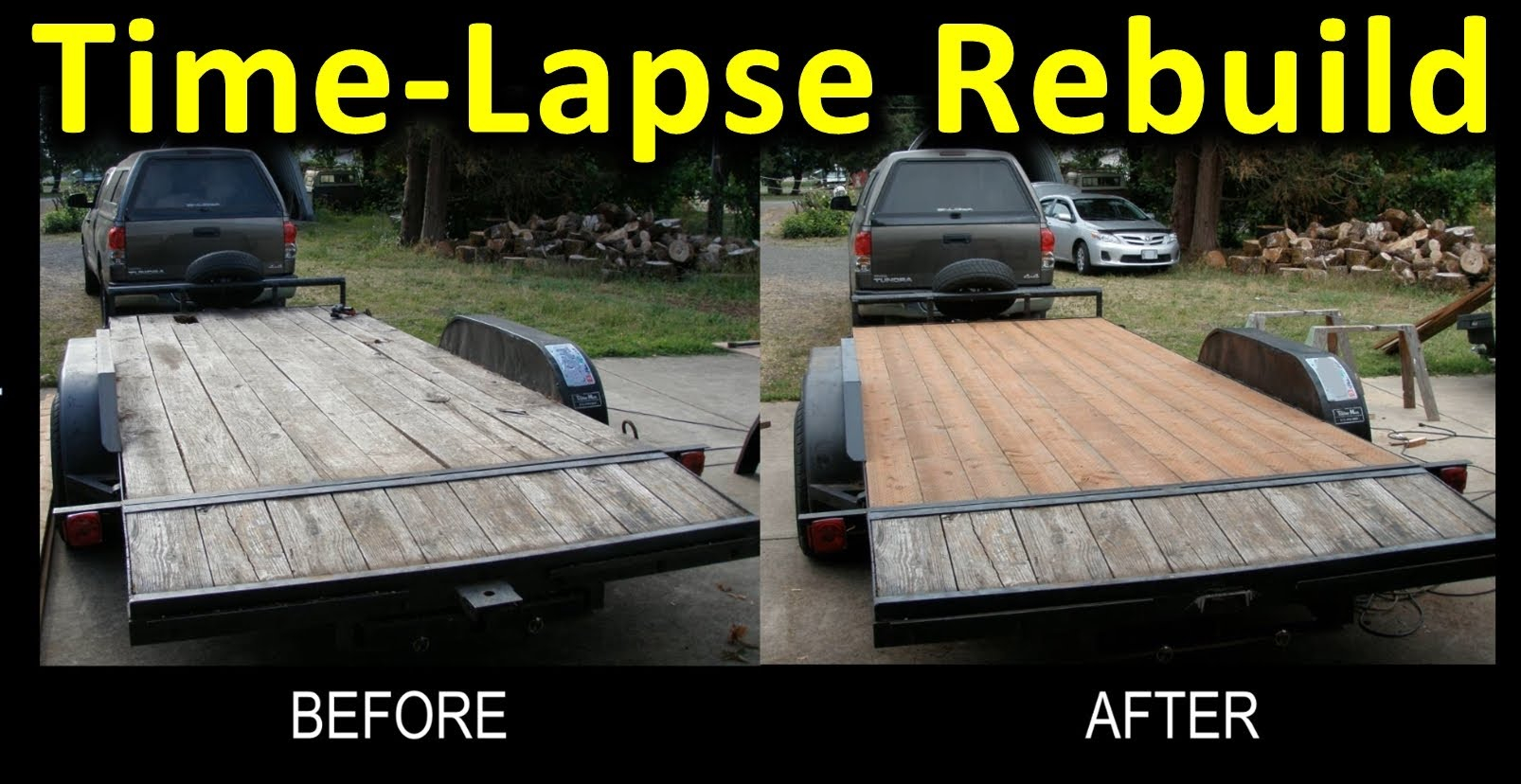 Time Lapse Trailer Deck Rebuild Narrated Gopro Pics At 2 Second within proportions 1606 X 828