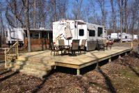 Treated Wood Deck Hickory Acres Campground Edgerton Ohio Diy inside sizing 1024 X 768
