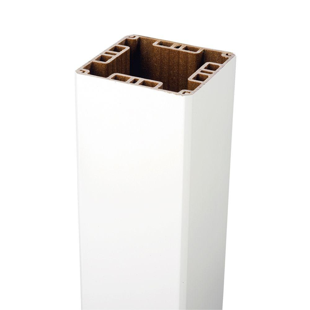 Trex 4 In X 4 In X 39 In White Composite Post Sleeve 5457472 with regard to measurements 1000 X 1000