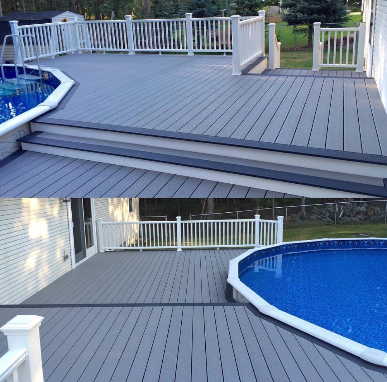 Trex Pebble Grey And Winchester Grey Decking With Trex Transcend for proportions 1242 X 1227