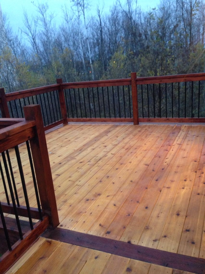 Two Tone Stain On Our Deck Turned Out Nice Outdoor Living With Regard To Dimensions 852