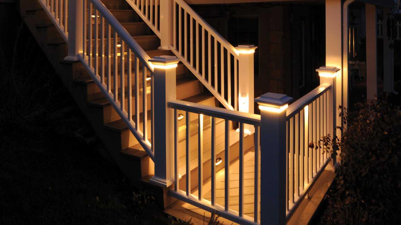 under rail deck lighting ideas decks ideas