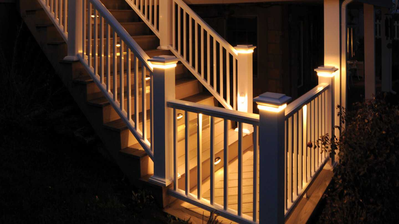 Under Rail Solar Deck Lighting Decks Ideas