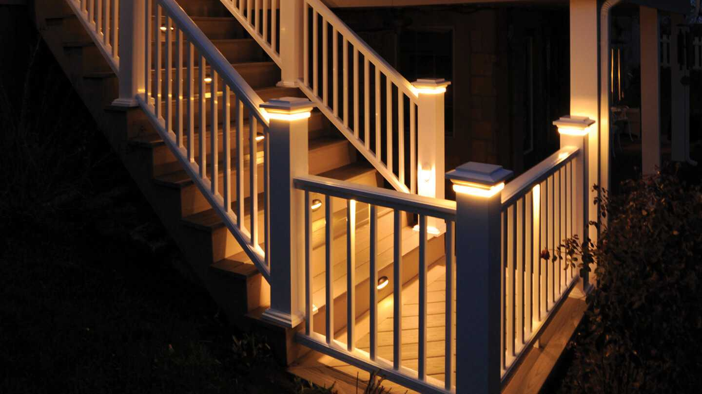 Under Railing Deck Lighting Ideas With Attractive Led Lights Strip within dimensions 1440 X 810