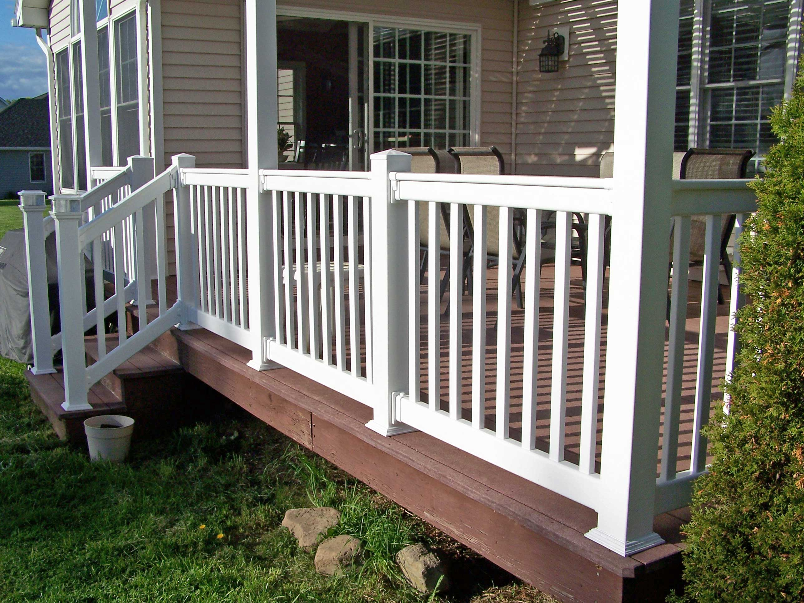 Vinyl Railing Install Clinton Ny Poly Enterprises inside size 2576 X 1932