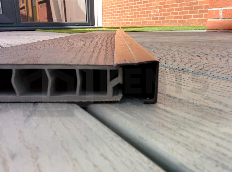 Walnut Upvc Deck Board Edge Cover Trim 3m Throughout Dimensions 1500 X 1110