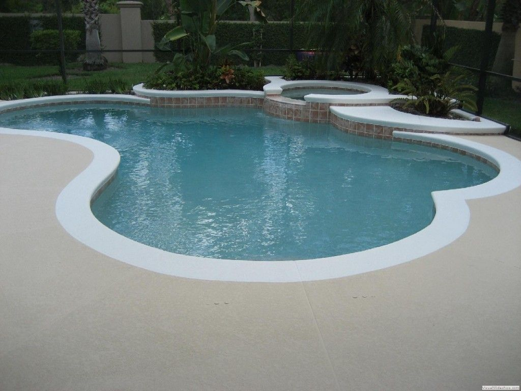 White Edge Pool Deck Color Of Pool Deck Should Be A Dark Graybrown within proportions 1024 X 768