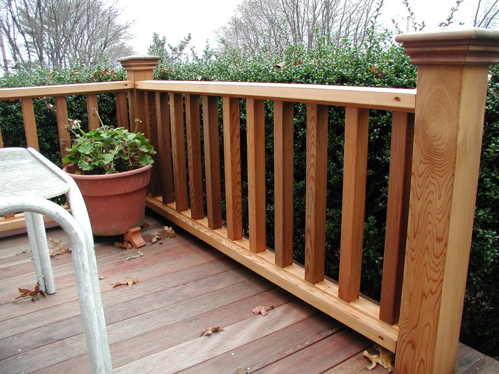 wood deck railing designs diy decks ideas