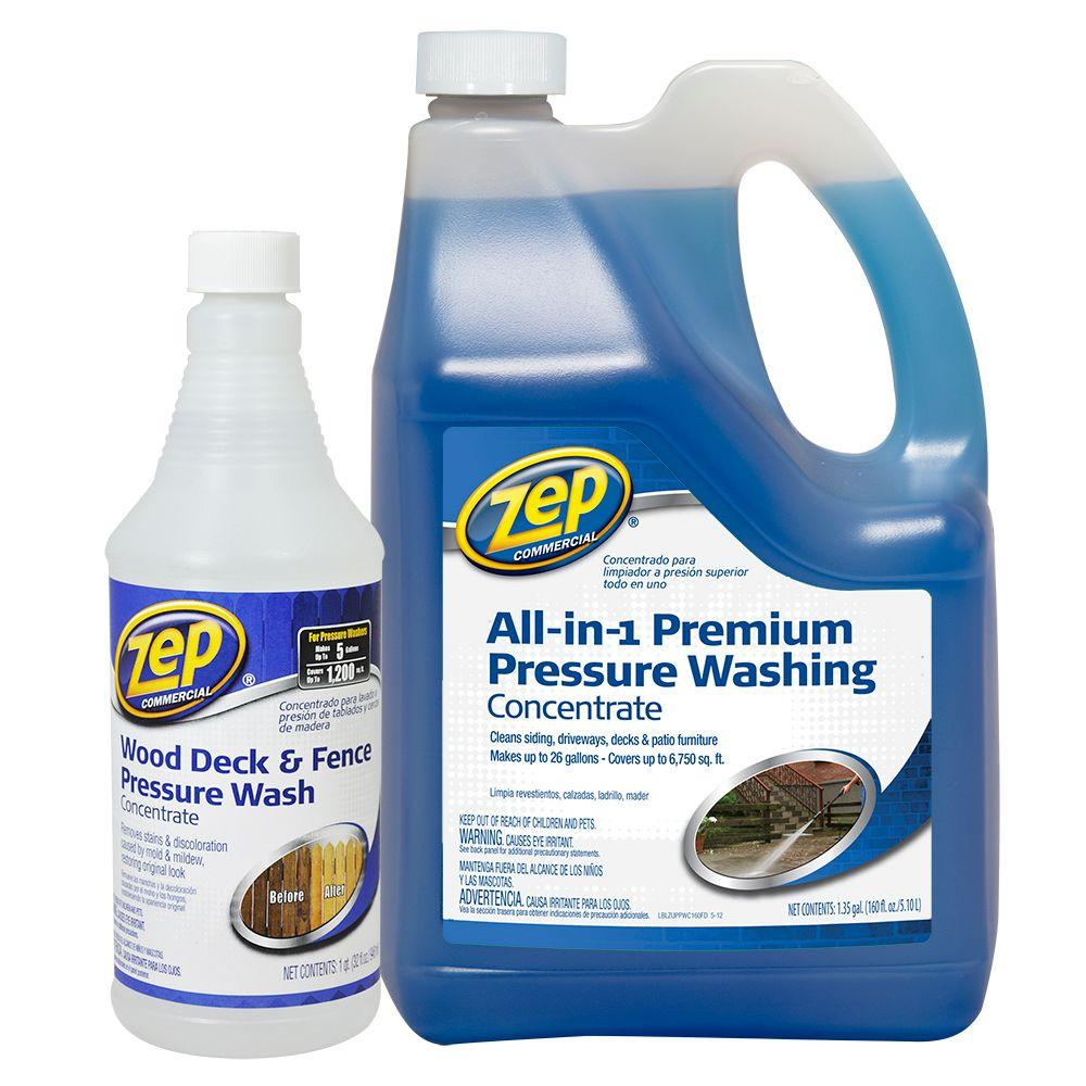 Zep 172 Oz All In 1 Premium Pressure Wash With Wood Deck And Fence throughout proportions 1000 X 1000
