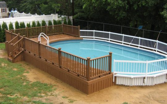 Permalink to Oval Above Ground Swimming Pools With Deck