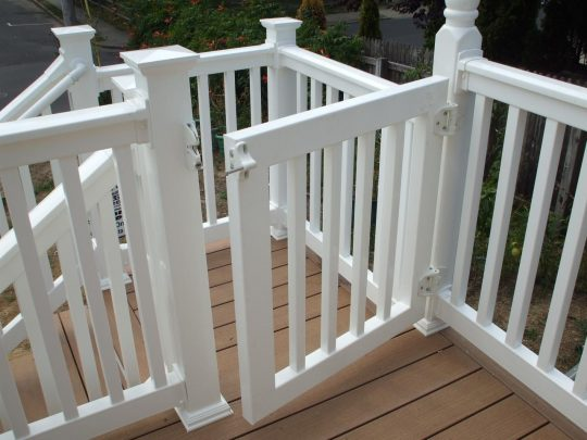 Permalink to White Vinyl Deck Gates